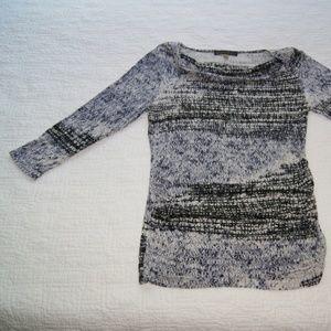 Rose & Olive Long Sleeve Swoop Neck Cinched Side